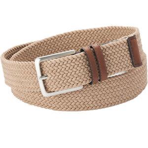 Dockers Stretch Web Belt Men's 35mm Braided Stretch Belts Khaki