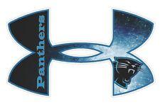"Under Armour Carolina Panthers Football Truck/Window Decal Sticker 11.5""x7""  ."