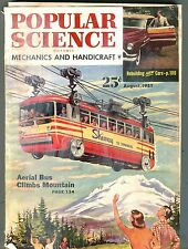 Popular Science Magazine August 1951 Aerial Bus New Cars 062017nonjhe