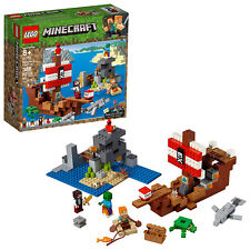 LEGO Minecraft The Pirate Ship Adventure Building Kit (21152, 386 Pieces)
