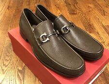Salvatore Ferragamo Men's Brown 'Grandioso' Loafer Shoes Size 9.5EE NIB