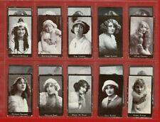 More details for actresses (tobacco back) - r. & j. hills - c.1917 full cigarette card set (tg17)