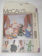McCall's 8281 FELT PUPPETS from 1982 UC FF HTF