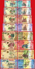 MADAGASCAR FULL SET 100 200 500 1000 2000 5000 10000 & 20000 Ariary 2017 SC  UNC
