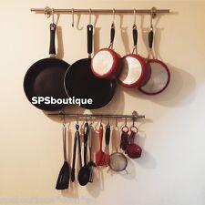 Ikea Steel Rail 57cm + 5 Hooks Kitchen Utensil Storage Organizer Set Fintorp