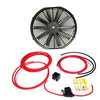 "14"" Universal Electric Slim Radiator / Intercooler Fan with wiring  Kit"