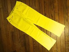New!  Diane Gilman SuperStretch Denim 5-Pocket Boot-Cut Jegging - Yellow Size PL