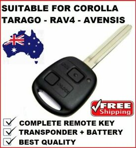 60030 REMOTE CAR KEY Suitable for Toyota Corolla Rav4 Tarago Avensis Verso
