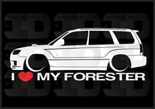 I Heart My Forester Sticker Love Subaru Slammed JDM Japan SG XT Boxer Wagon 2.5