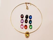 Joan Rivers Crystal Accent Interchangeable Faux Stone Collar Necklace