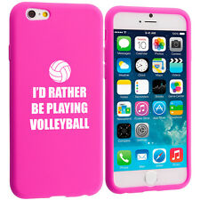 For iPhone 4 5 5s 5c 6 6s Silicone Soft Rubber Case Rather Be Playing Volleyball