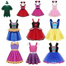 Kids Girls Halloween Princess Costume Fairytale Dress Up Cosplay Party Outfit
