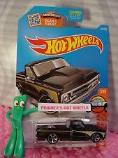 Case B 2016 Hot Wheels '67 CHEVY C10 pickup #143 ✰ Black;Gold; mc5✰HOT TRUCK