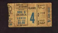 1961 NEW YORK GIANTS vs WASHINGTON REDSKINS  Ticket Stub