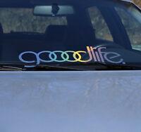 goodlife Frontscheibenaufkleber Auto OIlslick Farbspiel Folie Sticker Holo Style