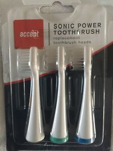 2 x 3pk ACCENT SONIC POWER REPLACEMENT TOOTHBRUSH HEADS.
