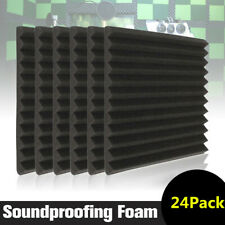 """24 Pack 12"""" X 12""""X 2""""  Acoustic Foam Panel Tile Wall Studio Soundproofing USA"""