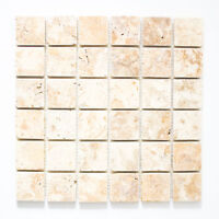 Mosaik Gold antique Travertine Fliesenspiegel Küche Art: 43-51048 | 10 Matten