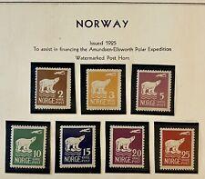 Norway 1925 Polar Bear And Aero Plane Mint #Nw107