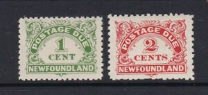 CANADA NEWFOUNDLAND 1939-49 1c AND 2c POSTAGE DUES LIGHTLY HINGED MINT