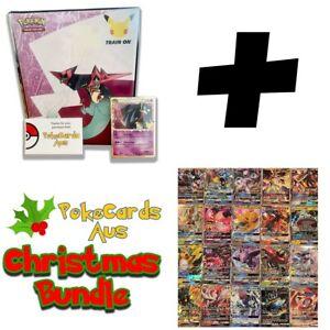 100 Pokemon Cards - Premium Pack All Have 1 GX, V +11 Rare/Rev Holos! + Binder!!