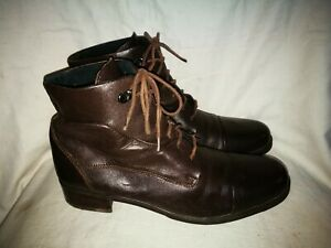 Brown leather ankle boots size 6