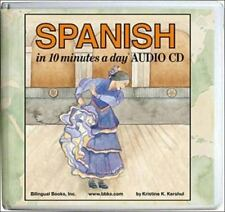 Spanish in 10 Minutes a Day [ Kershul, Kristine K. ] Used - VeryGood