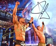 John Cena Dwayne The Rock Johnson Dual  8x10 autographed photo RP