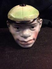 RARE Joe Louis Ceramic Figural Tobacco Jar Unmarked