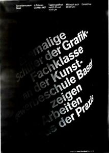 Original vintage poster BASEL SCOOL GRAPHIC DESIGN EXPO 1967