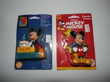 2 Vintage Walt Disney Mickey Mouse Birthday Candles Wilton 1998