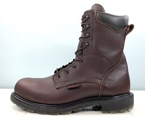 """Red Wing Supersole 2.0 Men's 8"""" Steel Toe Safety Work Brown Boots 2408 Size 13 B"""
