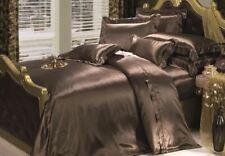 "100%SILK-SHEET SET Of 4 Queen Size*""Cocoa SofTan19mm Organic*4""Skin+Hair Care*BR"