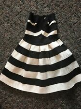 Alythea Dress - Fit And Flare Tube Black/White Striped Dress Sz.Small