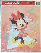 Vintage Walt Disney Minnie Mouse Dancing Golden Frame Tray Puzzle USA