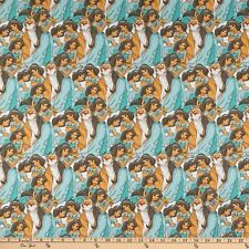 Disney Princess Jasmine Packed 100% Cotton Fabric Sold By The Yard