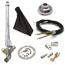 16 Trans Mnt E-Brake HandleBlack Boot, Cap, Chr Ring, Cable Kit, Ford Clevis