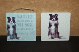 Collie - Border collie - Wall hanger - Drink coasters -