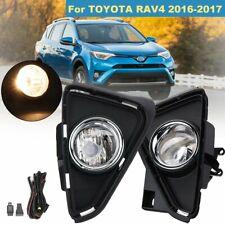 For Toyota RAV4 2016 2017 Bumper Fog Light Driving Lamp Black Bezel Cear