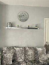 Mirrored Floating Corner Shelf Wall Mounted Storage Unit Shelving Display Kit UK