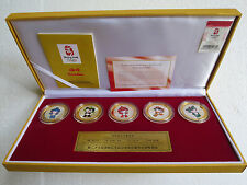 Beijing 2008, The Mascots Commemorative Medaillon Set, 5 Medaillen