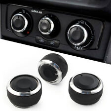 3Pcs Air Conditioning Heat Control Knob A/C Switch Decor for VW POLO 2004-2013