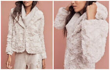 EUC Anthropologie Glacie Faux-Fur hooded Jacket by Tiny Edition women's small s