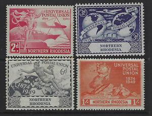 Northern Rhodesia SG 50 - 53 Universal Postal Union Set Used Cat £4.25