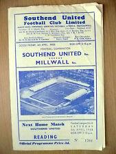 Away Teams L-N Millwall Football Reserve Fixture Programmes