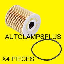 VOLVO C70 S40 S60 S70 S80 V70 X/C XC90 Oil Filter Kit SET OF 4 MAHLE NEW