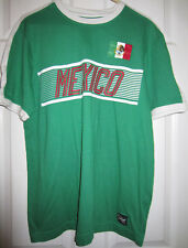 MITRE Mexico Football Futbol Soccer T-Shirt Color Green Men's Mexican Flag - M