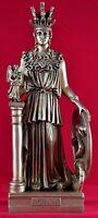 Athena Minerva pallas greek statue 11 inch NEW patina gold New Free Shipping