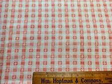 Vintage Cotton Fabric Feed Sack CUTE Pink & White Squares & Crosses EXC