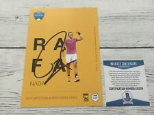 Rafael Nadal Signed Autographed 5x7 W&S Card Beckett BAS COA b